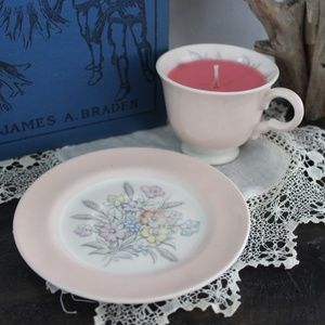 Teacup Candle and Saucer
